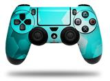 Vinyl Skin Wrap for Sony PS4 Dualshock Controller Bokeh Hex Neon Teal (CONTROLLER NOT INCLUDED)