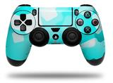 Vinyl Skin Wrap for Sony PS4 Dualshock Controller Bokeh Squared Neon Teal (CONTROLLER NOT INCLUDED)