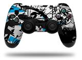 Vinyl Skin Wrap for Sony PS4 Dualshock Controller Baja 0018 Blue Medium (CONTROLLER NOT INCLUDED)