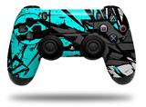 Vinyl Skin Wrap for Sony PS4 Dualshock Controller Baja 0040 Neon Teal (CONTROLLER NOT INCLUDED)
