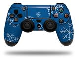 Vinyl Skin Wrap for Sony PS4 Dualshock Controller Winter Snow Royal Blue (CONTROLLER NOT INCLUDED)