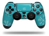 Vinyl Skin Wrap for Sony PS4 Dualshock Controller Winter Snow Teal Blue (CONTROLLER NOT INCLUDED)