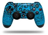 WraptorSkinz Skin compatible with Sony PS4 Dualshock Controller PlayStation 4 Original Slim and Pro Folder Doodles Blue Medium (CONTROLLER NOT INCLUDED)