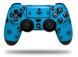 Vinyl Skin Wrap for Sony PS4 Dualshock Controller Nautical Anchors Away 02 Blue Medium (CONTROLLER NOT INCLUDED)