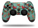 Vinyl Skin Wrap for Sony PS4 Dualshock Controller Crabs and Shells Seafoam Green (CONTROLLER NOT INCLUDED)
