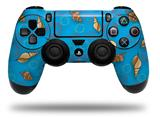WraptorSkinz Skin compatible with Sony PS4 Dualshock Controller PlayStation 4 Original Slim and Pro Sea Shells 02 Blue Medium (CONTROLLER NOT INCLUDED)