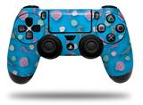 WraptorSkinz Skin compatible with Sony PS4 Dualshock Controller PlayStation 4 Original Slim and Pro Seahorses and Shells Blue Medium (CONTROLLER NOT INCLUDED)