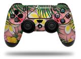 Vinyl Skin Wrap for Sony PS4 Dualshock Controller Beach Flowers 02 Pink (CONTROLLER NOT INCLUDED)