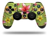 Vinyl Skin Wrap for Sony PS4 Dualshock Controller Beach Flowers Sage Green (CONTROLLER NOT INCLUDED)