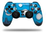 WraptorSkinz Skin compatible with Sony PS4 Dualshock Controller PlayStation 4 Original Slim and Pro Starfish and Sea Shells Blue Medium (CONTROLLER NOT INCLUDED)