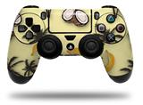 WraptorSkinz Skin compatible with Sony PS4 Dualshock Controller PlayStation 4 Original Slim and Pro Coconuts Palm Trees and Bananas Yellow Sunshine (CONTROLLER NOT INCLUDED)