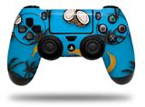 Vinyl Decal Skin Wrap compatible with Sony PlayStation 4 Dualshock Controller Coconuts Palm Trees and Bananas Blue Medium (PS4 CONTROLLER NOT INCLUDED)