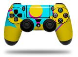 Vinyl Skin Wrap for Sony PS4 Dualshock Controller Drip Yellow Teal Pink (CONTROLLER NOT INCLUDED)