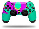 Vinyl Decal Skin Wrap compatible with Sony PlayStation 4 Dualshock Controller Drip Teal Pink Yellow (PS4 CONTROLLER NOT INCLUDED)