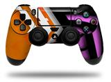 Vinyl Skin Wrap for Sony PS4 Dualshock Controller Black Waves Orange Hot Pink (CONTROLLER NOT INCLUDED)