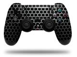 Vinyl Skin Wrap for Sony PS4 Dualshock Controller Mesh Metal Hex 02 (CONTROLLER NOT INCLUDED)