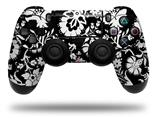 Vinyl Skin Wrap for Sony PS4 Dualshock Controller Black and White Flower (CONTROLLER NOT INCLUDED)