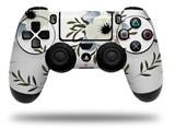 Vinyl Skin Wrap for Sony PS4 Dualshock Controller Poppy White (CONTROLLER NOT INCLUDED)