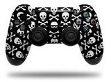 Vinyl Decal Skin Wrap compatible with Sony PlayStation 4 Dualshock Controller Skull and Crossbones Pattern (PS4 CONTROLLER NOT INCLUDED)