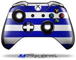 Psycho Stripes Blue and White - Decal Style Skin fits Microsoft XBOX One Wireless Controller