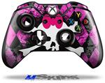 Pink Diamond Skull - Decal Style Skin fits Microsoft XBOX One Wireless Controller