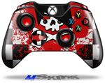 Decal Skin Wrap fits Microsoft XBOX One Wireless Controller Emo Skull 5