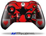 Decal Skin Wrap fits Microsoft XBOX One Wireless Controller Emo Star Heart