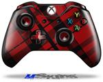 Red Plaid - Decal Style Skin fits Microsoft XBOX One Wireless Controller