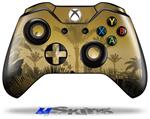 Summer Palm Trees - Decal Style Skin fits Microsoft XBOX One Wireless Controller