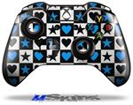 Decal Skin Wrap fits Microsoft XBOX One Wireless Controller Hearts And Stars Blue