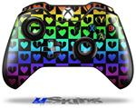 Decal Skin Wrap fits Microsoft XBOX One Wireless Controller Love Heart Checkers Rainbow