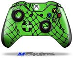 Decal Skin Wrap fits Microsoft XBOX One Wireless Controller Ripped Fishnets Green