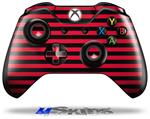 Decal Skin Wrap fits Microsoft XBOX One Wireless Controller Stripes Red