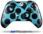 Decal Skin Wrap fits Microsoft XBOX One Wireless Controller Kearas Polka Dots Black And Blue