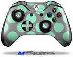 Kearas Polka Dots Mint And Gray - Decal Style Skin fits Microsoft XBOX One Wireless Controller