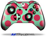 Decal Skin Wrap fits Microsoft XBOX One Wireless Controller Kearas Polka Dots Pink And Blue