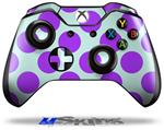 Decal Skin Wrap fits Microsoft XBOX One Wireless Controller Kearas Polka Dots Purple And Blue