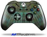 Decal Skin Wrap fits Microsoft XBOX One Wireless Controller Tie Dye Turquoise Stripes
