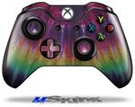 Tie Dye Red and Purple Stripes - Decal Style Skin fits Microsoft XBOX One Wireless Controller