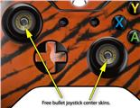 Tie Dye Bengal Belly Stripes - Decal Style Skin fits Microsoft XBOX One Wireless Controller