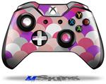 Decal Skin Wrap fits Microsoft XBOX One Wireless Controller Brushed Circles Pink
