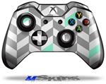 Chevrons Gray And Seafoam - Decal Style Skin fits Microsoft XBOX One Wireless Controller