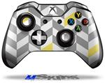 Chevrons Gray And Yellow - Decal Style Skin fits Microsoft XBOX One Wireless Controller