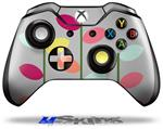 Plain Leaves On Gray - Decal Style Skin fits Microsoft XBOX One Wireless Controller