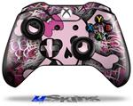 Decal Skin Wrap fits Microsoft XBOX One Wireless Controller Pink Skull