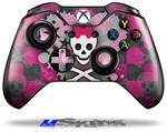Decal Skin Wrap fits Microsoft XBOX One Wireless Controller Princess Skull Heart Pink