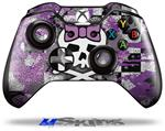 Decal Skin Wrap fits Microsoft XBOX One Wireless Controller Princess Skull Purple