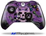 Purple Girly Skull - Decal Style Skin fits Microsoft XBOX One Wireless Controller