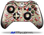 Decal Skin Wrap fits Microsoft XBOX One Wireless Controller Lots of Santas