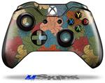 Decal Skin Wrap fits Microsoft XBOX One Wireless Controller Flowers Pattern 01